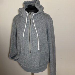 American Eagle hooded sweatshirt 1/2 zip gray XL